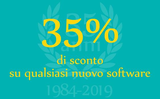 35% di sconto su qualsiasi nuovo software
